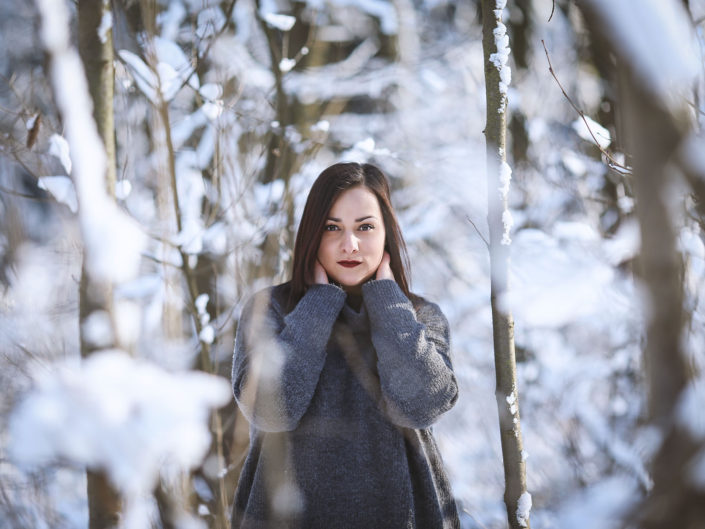 Zimní editoriál s Lucií